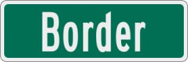 Sign with White Border