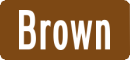 Brown street name sign with White Letters