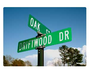 Picture of street name signs