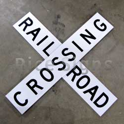 Our railroad crossbucks sign is made from heavy gauge extruded aluminum