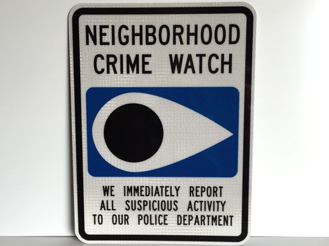 """A photo of our 18""""x24"""" Neighborhood Crime Watch sign with High Intensity Reflective"""