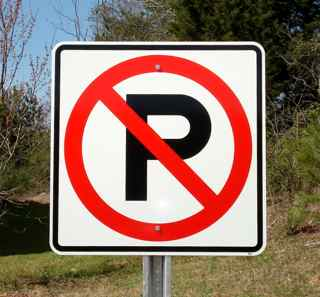 No Parking Symbol Signs
