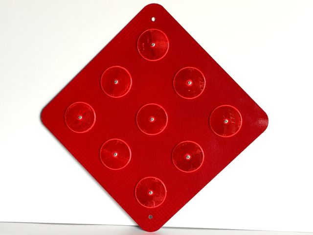 Actual picture of our OM4-1 end of road marker with red reflectors.