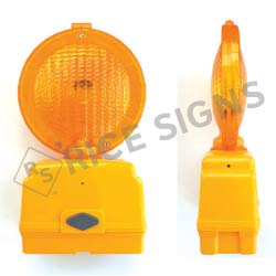 6 Volt LED Barricade Light with Photocell