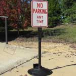 Heavy Duty Cast Iron Wheeled Sign Base and Post
