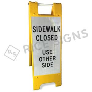 Sidewalk Closed Use Other Side Folding Sign