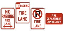 No parking fire lane signs for sale.