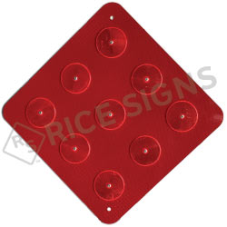 Red End of Road (9) Reflector Object Marker