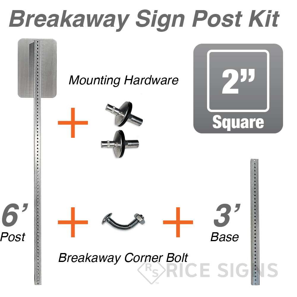 Breakaway Square Sign Posts