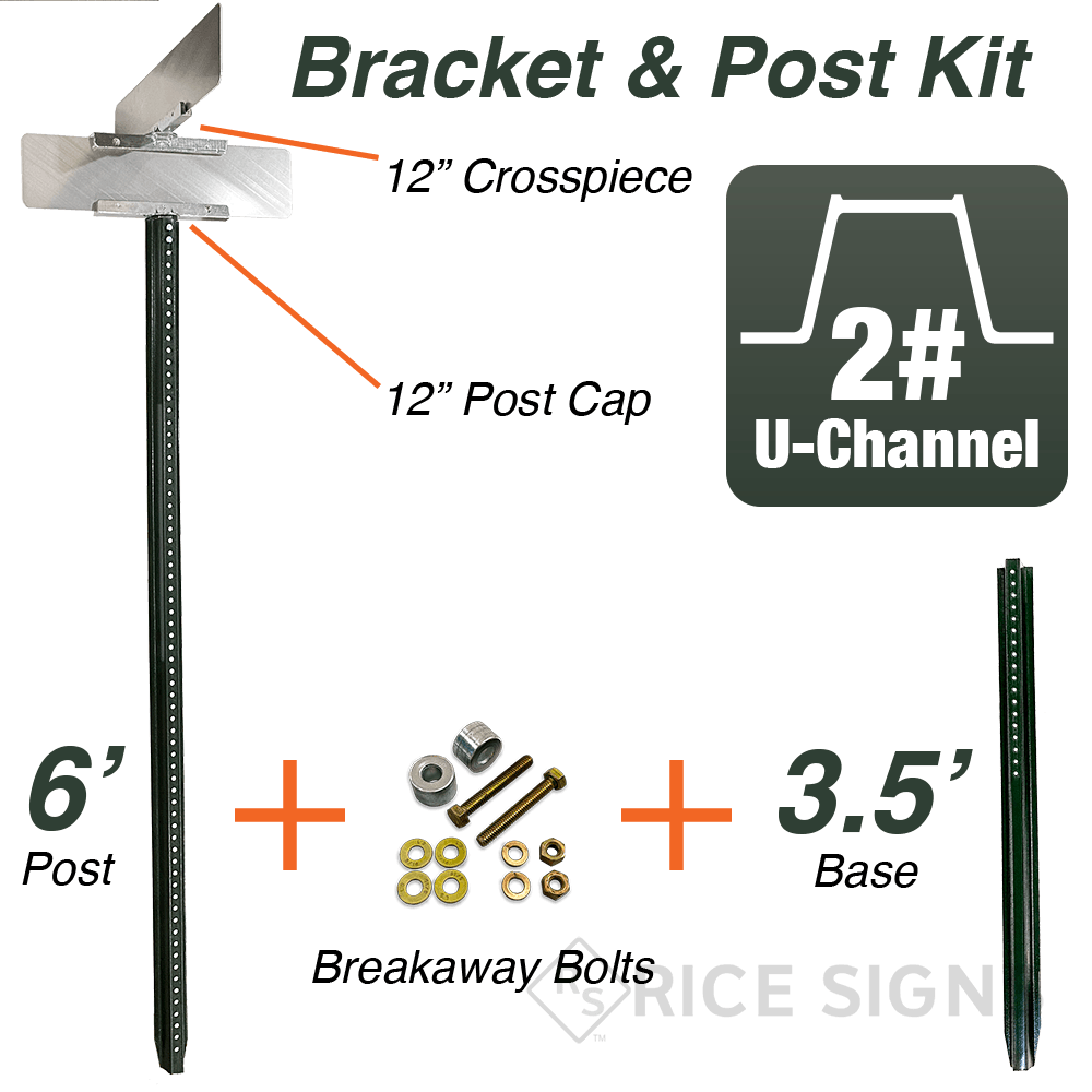 Street Name Sign Post and Hardware Kit