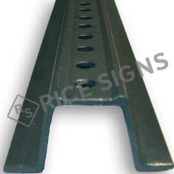 2# Per Foot Green Steel U-Channel Sign Posts