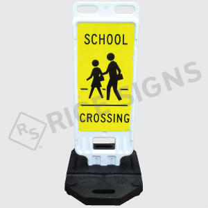 Portable School Crossing Sign Double Sided