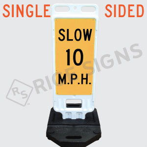 Portable Slow Custom Speed Limit Sign Single Sided
