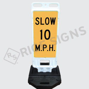 Portable Slow Custom Speed Limit Sign Double Sided