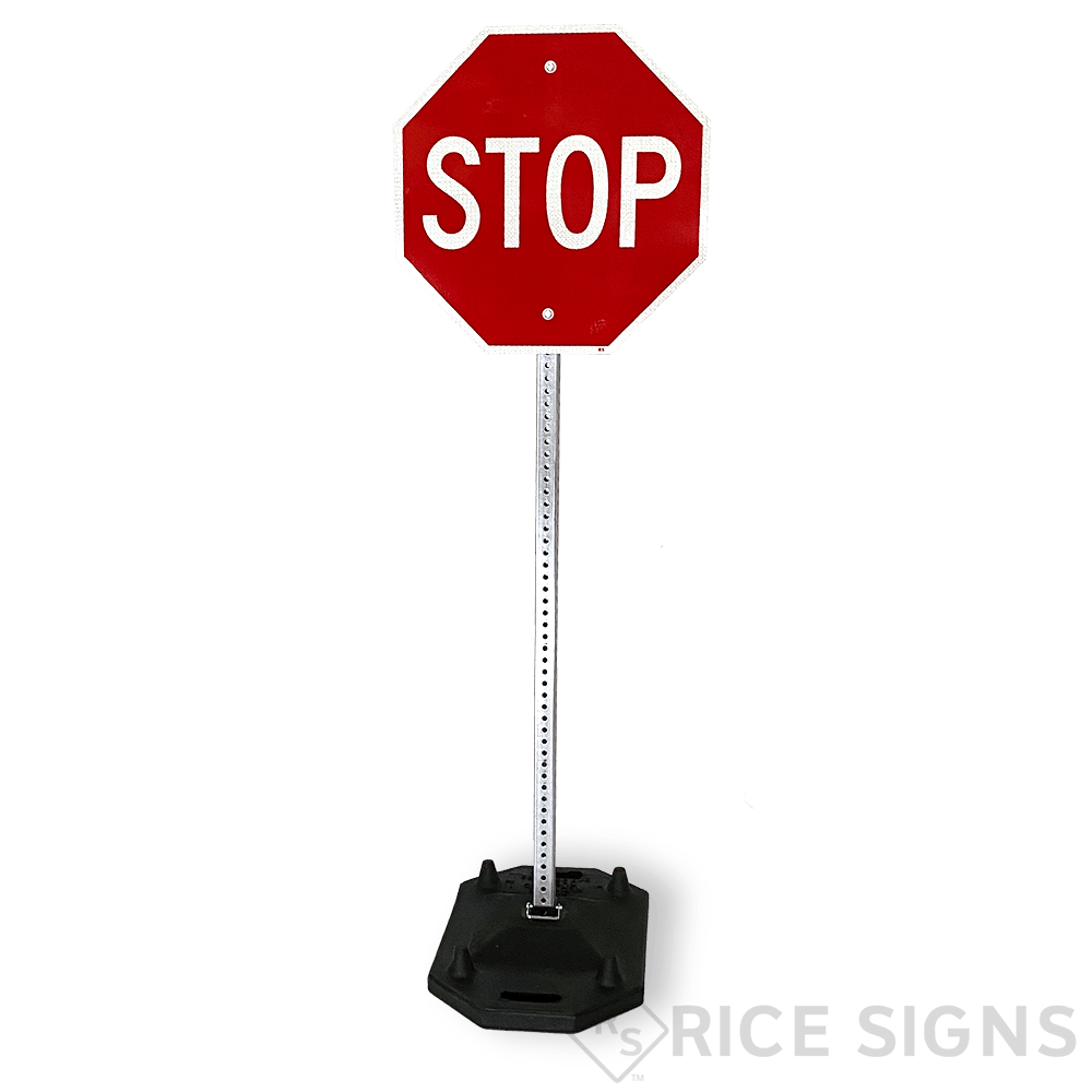 Stackable Portable Rubber Sign Stands