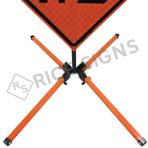Folding Sign Stand for Roll-Up Signs