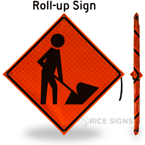 Men Working (symbol) Roll-Up Signs
