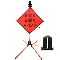 Dual Spring Wind Resistant Sign Stand for Roll-Up and Aluminum Signs